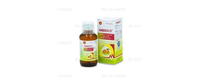 Thuốc siro tiêu đờm, trị các bệnh cấp và mãn tính đường hô hấp cho trẻ em Ambroco