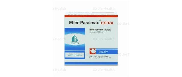 Thuốc trị cảm cúm và ho, hạ sốt Effer-Paralmax extra