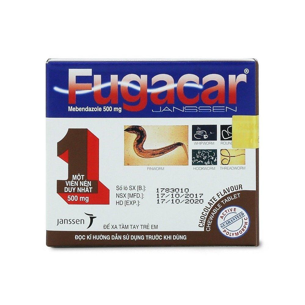 Hình ảnh thuốc tẩy giun Fugacar Socola - Ảnh 2