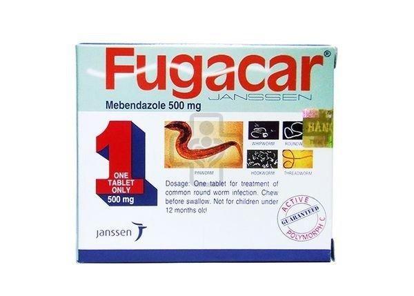Hình ảnh thuốc tẩy giun Fugacar Menbendazole 500,mg - Ảnh 3