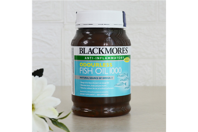Dầu cá Blackmores Oudourless Fish Oil